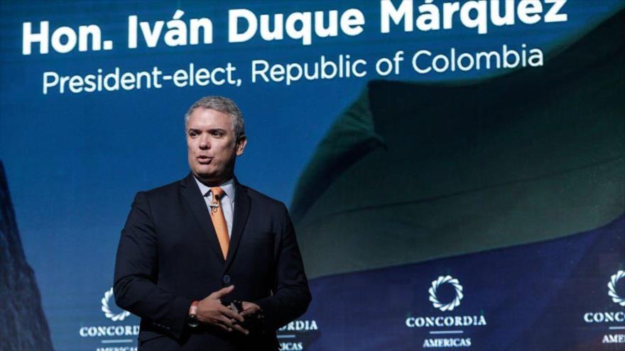 Duque pide más cerco diplomático y sanciones contra Venezuela | HISPANTV