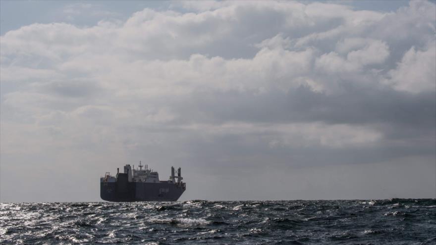 Barco saudí Bahri Yanbu, cerca de puerto de El Havre, Francia, 9 de mayo de 2019. (Foto: AFP)