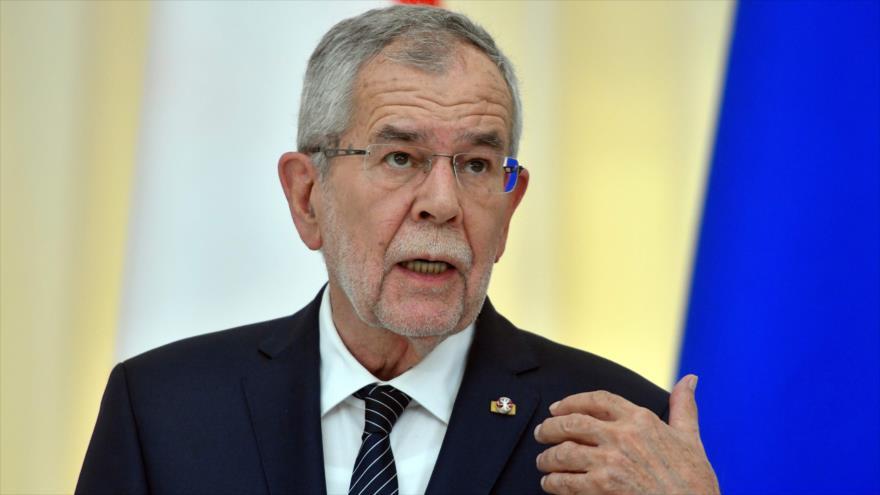El presidente austriaco, Alexander Van der Bellen, en una conferencia de prensa en la ciudad rusa de Sochi, 15 de mayo de 2019. (Foto: AFP)