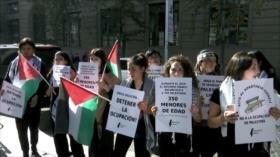Manifestantes repudian silencio de Chile ante genocidio palestino