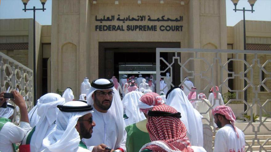 Fachada del edificio de la Corte Suprema Federal de los Emiratos Árabes Unidos (EAU).