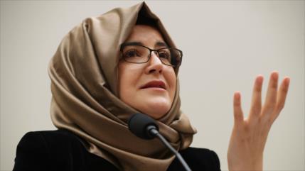 Novia de Khashoggi censura silencio de Trump ante brutal asesinato