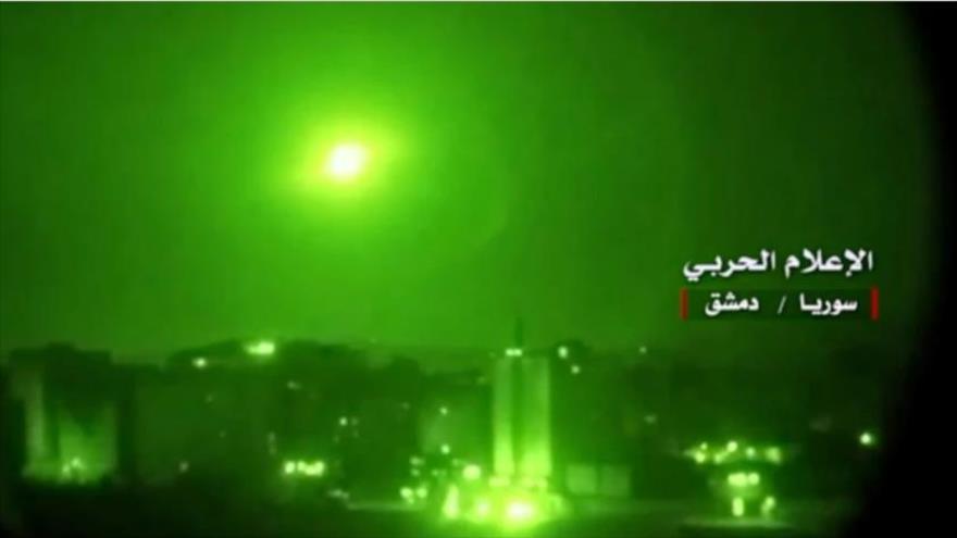 Defensa aérea siria derriba misiles israelíes cerca de Damasco