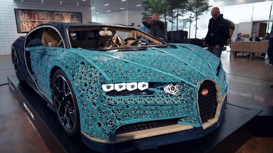 Lego fabrica una réplica tamaño real de Bugatti Chiron
