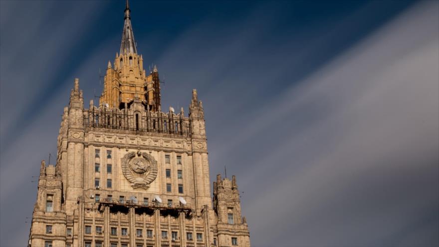 Sede del Ministerio de Asuntos Exteriores de Rusia en Moscú, la capital rusa.