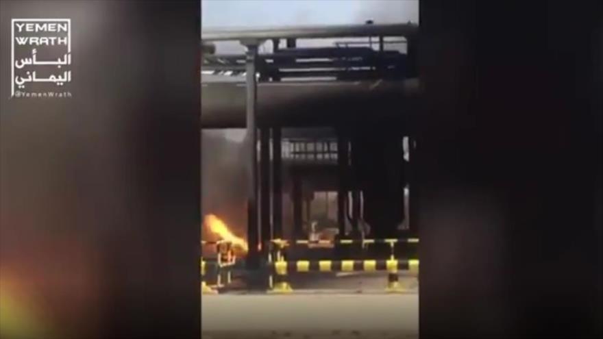 Vídeo: Oleoducto saudí se incendia tras ataque de drones yemeníes | HISPANTV