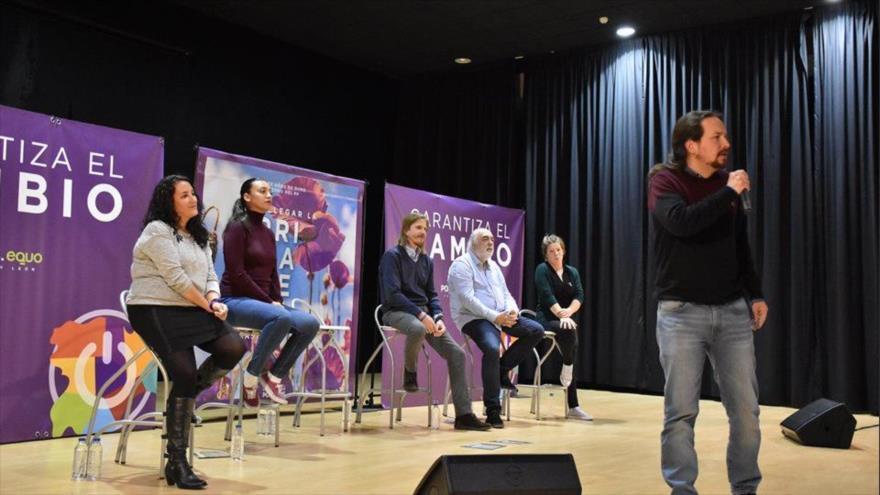 Iglesias destaca vocación para gobernar de Podemos