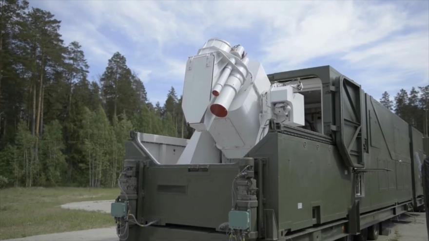 El moderno sistema láser de combate Peresvet del Ejército ruso.