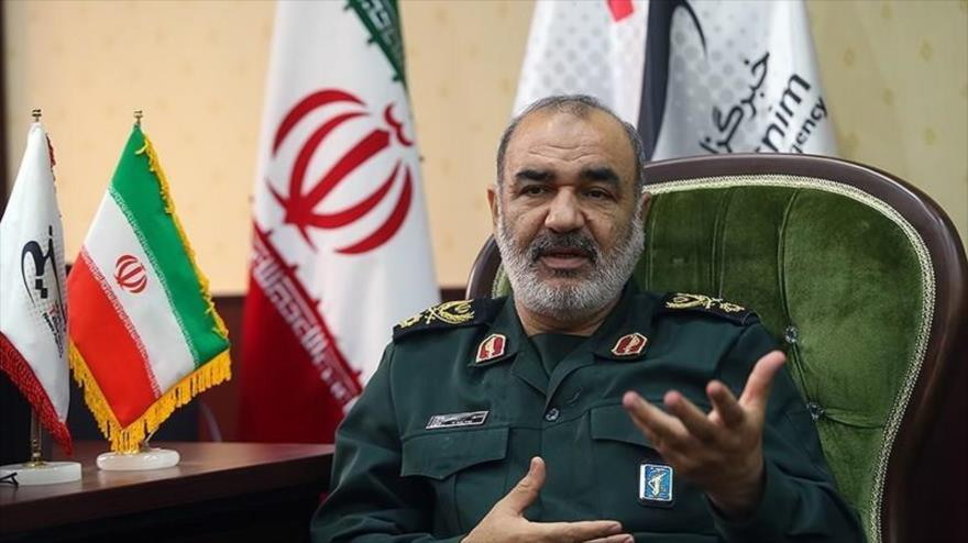 El general de división Hosein Salami, comandante en jefe del Cuerpo de Guardianes de la Revolución Islámica (CGRI).