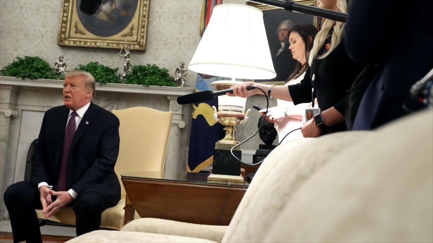 El presidente de EE.UU., Donald Trump, en una reunión en el Despacho Oval con el primer ministro húngaro, Viktor Orbán, 13 de mayo de 2019. (Foto: AFP)
