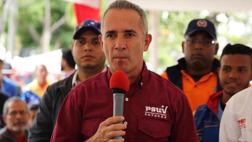El jefe nacional de los Comités Locales de Abastecimiento y Producción (CLAP) de Venezuela, Freddy Bernal.