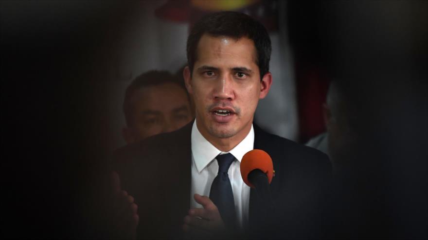 El líder opositor venezolano Juan Guaidó, en una conferencia de prensa en Caracas, 14 de mayo de 2019. (Foto: AFP)