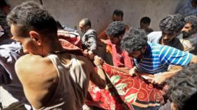 Vídeo: Niño yemení muere en un ataque saudí a Saná