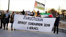 Vídeo: Hackers transmiten crímenes israelíes en plena Eurovisión