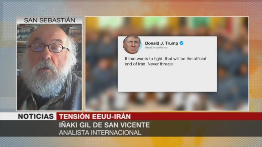Iñaki Gil: Amenazas de Trump contra Irán no le sirven de nada