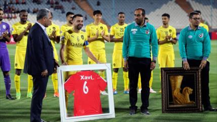 Xavi se despide del fútbol en el estadio de Azadi de Teherán