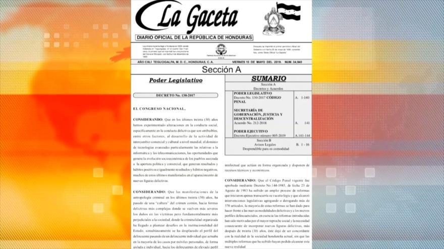Nuevo código penal en Honduras favorece a corruptos