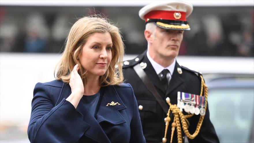 La secretaria de Defensa del Reino Unido, Penny Mordaunt, en Londres, la capital, 3 de mayo de 2019. (Foto: AFP)