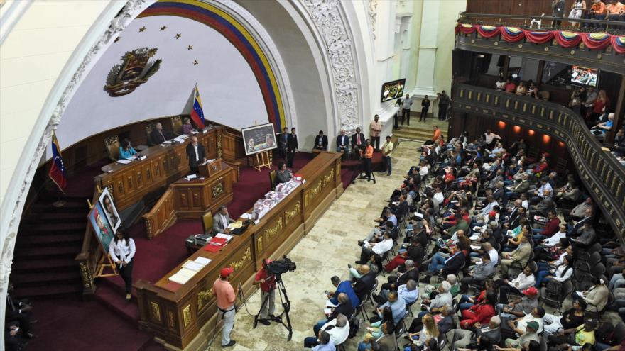 Una sesión de la Asamblea Nacional Constituyente (ANC) venezolana, 2 de abril de 2019. (Foto: AFP)