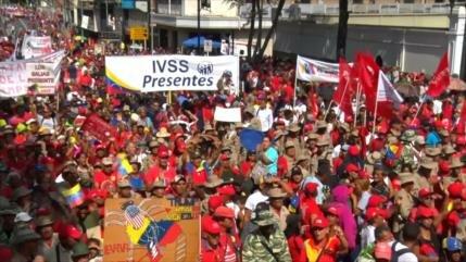 Chavismo festeja primer aniversario de la reelección de Maduro