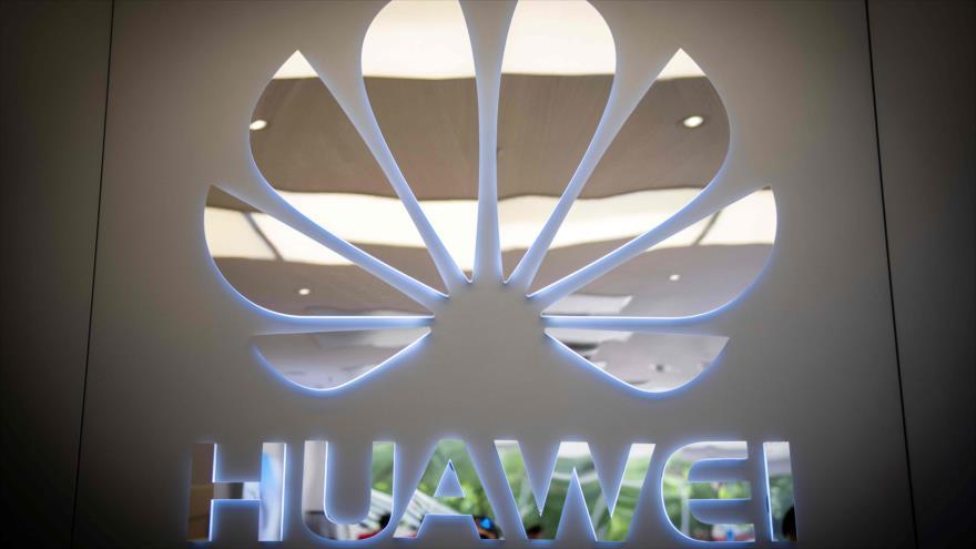Logo de Huawei en una tienda, Pekín, 21 de mayo de 2019 (foto: AFP)