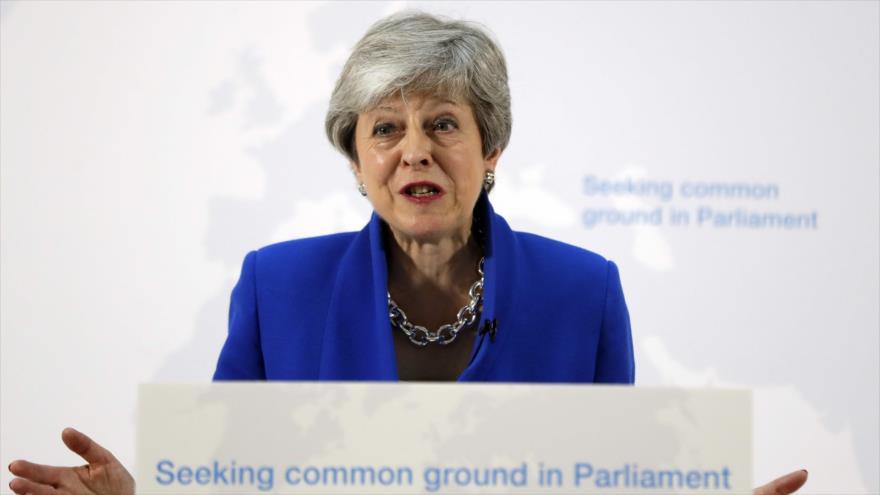 La primera ministra británica, Theresa May, ofrece un discurso en Londres, la capital, 21 de mayo de 2019. (Foto: AFP)