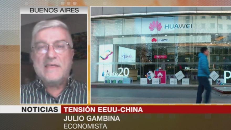 Gambina: Veto de EEUU a Huawei afecta al mercado estadounidense