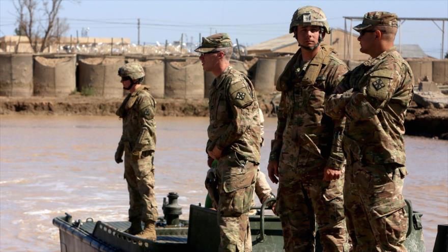 Tropas estadounidenses durante un entrenamiento militar en las afueras de la ciudad de Bagdad, capital iraquí.