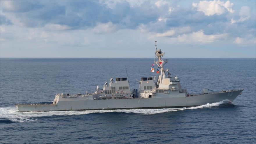 El destructor de misiles guiados USS Preble de la Armada de EE.UU., marzo de 2018.