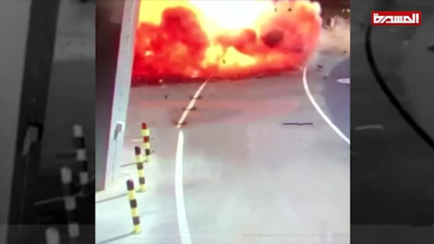 Yemen publica vídeo de ataque con drones a aeropuerto de Abu Dabi | HISPANTV