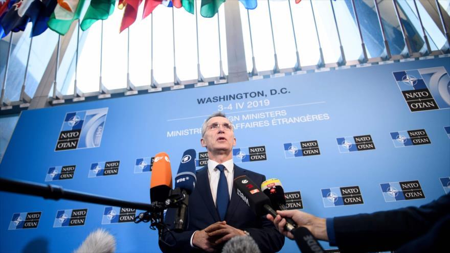 El Secretario general de la OTAN, Jens Stoltenberg, habla ante la prensa 4 de abril de 2019. (Foto: AFP)