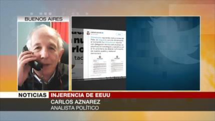Aznarez: Guaidó cumple papel de perrito faldero de EEUU