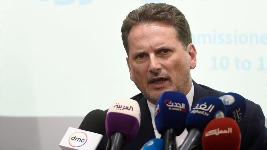 El jefe de la Agencia de Naciones Unidas para los Refugiados Palestinos (UNRWA), Pierre Krähenbühl, 10 de septiembre de 2018. (Foto: AFP)
