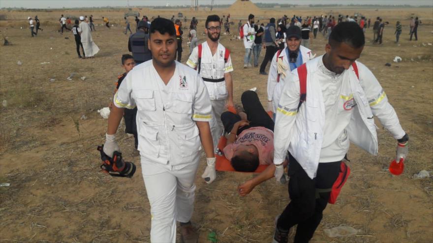 Represión israelí deja 16 palestinos heridos en Franja de Gaza