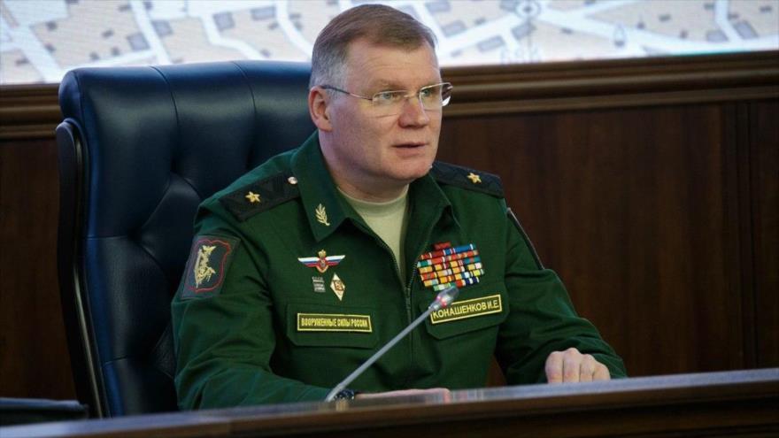El portavoz del Ministerio de Defensa de Rusia, Igor Konashenkov.