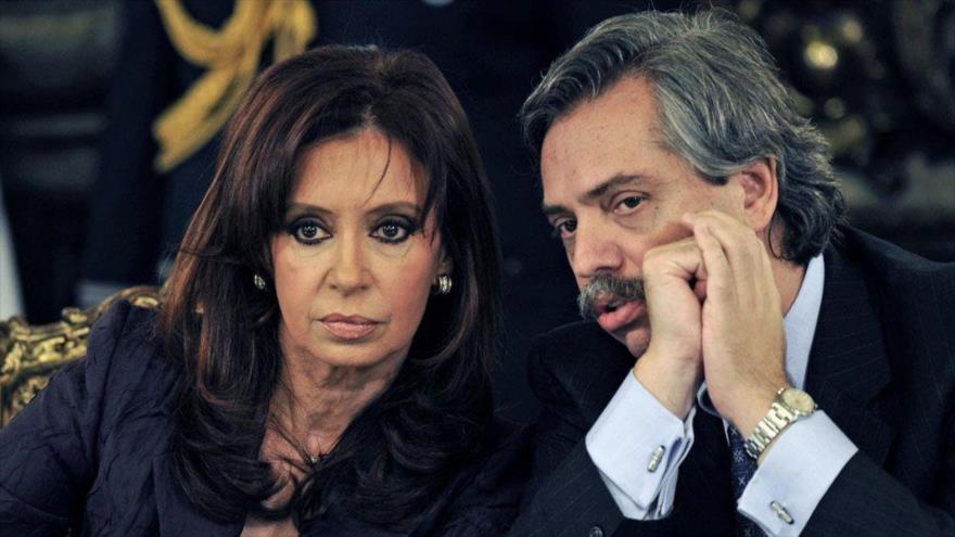 Los aspirantes a la Presidencia de Argentina por la Unidad Ciudadana, Cristina Fernández de Kirchner y Alberto Fernández.