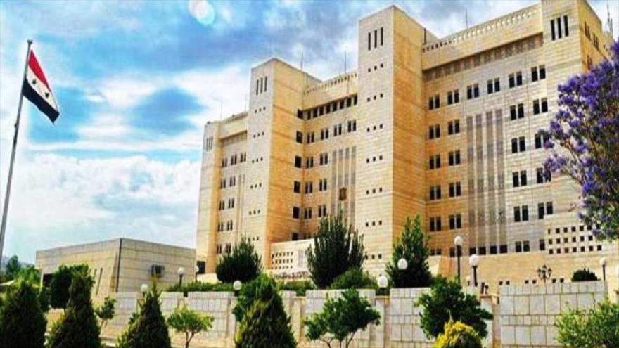 Edificio del Ministerio de Exteriores de Siria, en Damasco, la capital.