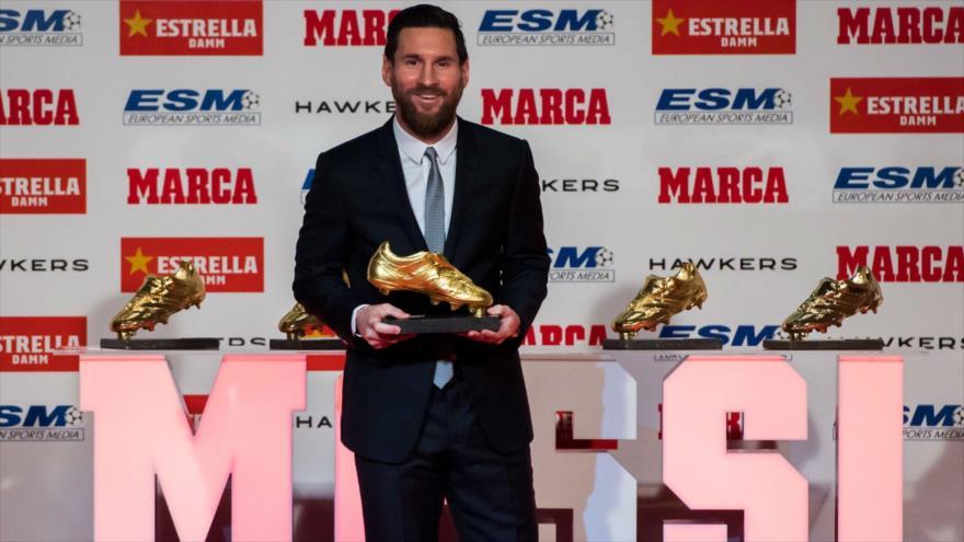 venta usa online color atractivo fotos oficiales Messi conquista su sexta Bota de Oro con 36 goles | HISPANTV