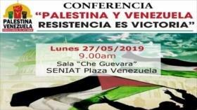 Celebran en Venezuela una conferencia en solidaridad con Palestina