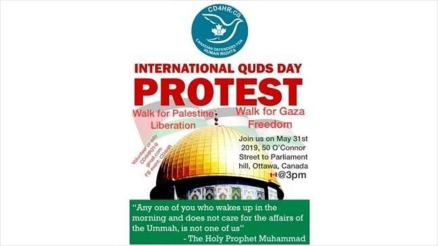Activistas llaman a masivas marchas en Día Mundial de Al-Quds