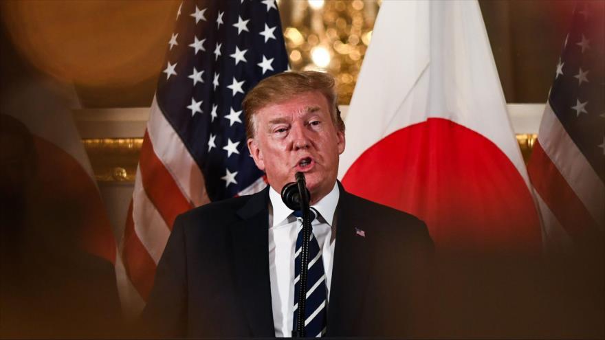 El presidente de EE.UU., Donald Trump, habla en una reunión en Tokio (capital de Japón), 25 de mayo de 2019. (Foto: AFP)