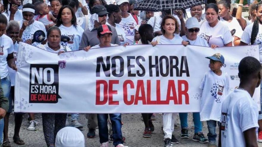 """La campaña """"No es hora de callar"""" sigue en la lucha en contra de las violencias hacia las mujeres."""