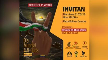 Invitan a venezolanos a conmemoración por Día Mundial de Al-Quds