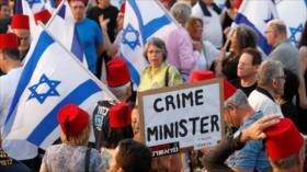 Protestan en Tel Aviv contra búsqueda de inmunidad para Netanyahu