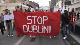 Franceses toman las calles de París contra acuerdos de Dublín