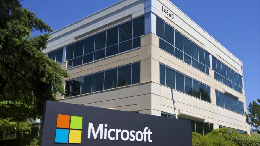 Un edificio en el campus de la sede de Microsoft en Redmond, Washington D.C. (Foto: AFP)