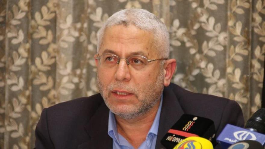 El jefe de la Oficina de Información del Movimiento de Resistencia Islámica de Palestina (HAMAS) en el exterior, Raafat Marra.