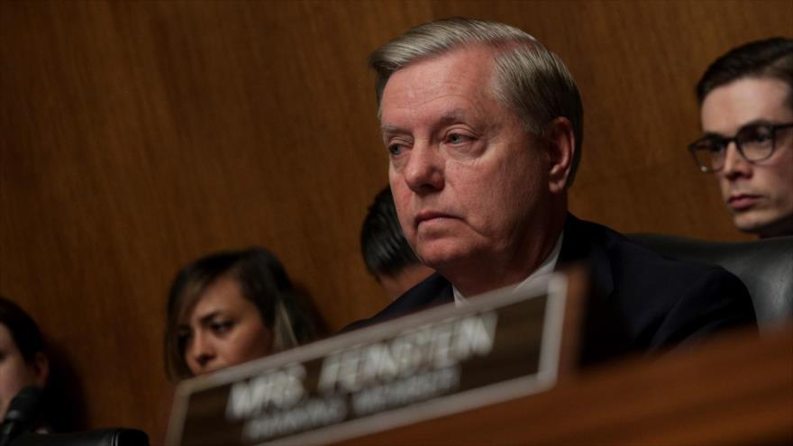 El senador republicano Lindsey Graham habla durante una audiencia del Comité Judicial del Senado en Washington DC., 1 de mayo de 2019. (Foto: AFP)