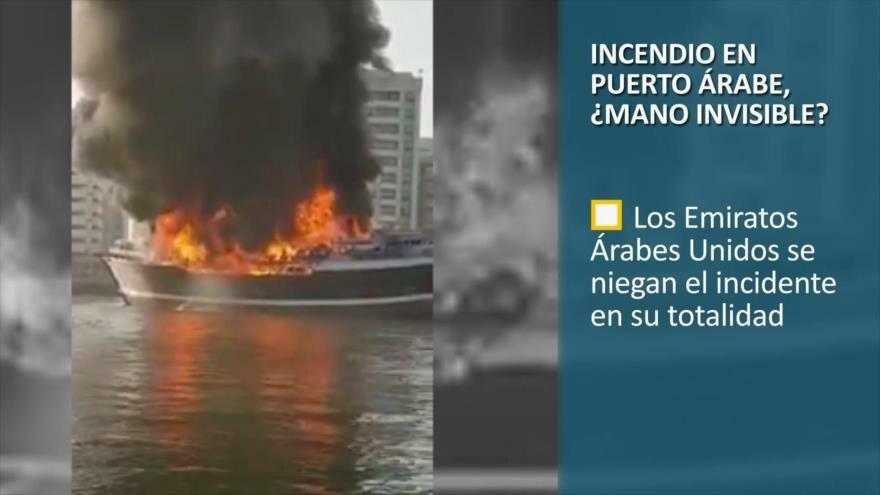 PoliMedios: Incendio en puerto árabe, ¿mano invisible?
