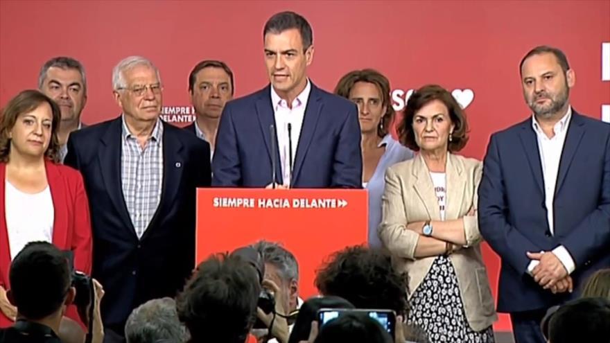 El PSOE ha salido reforzado de los comicios al Parlamento Europeo